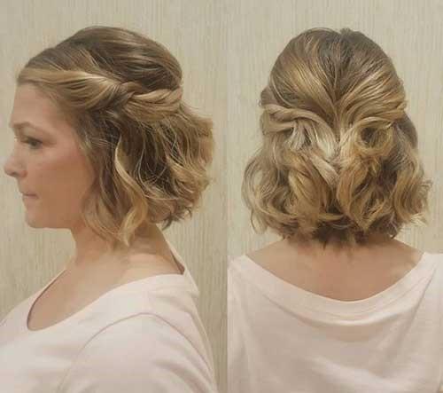 penteados para cabelos curtos alisados