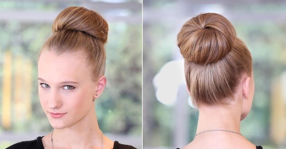 penteado coque com aplique