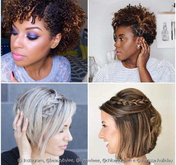 Penteados para madrinhas cabelos curtos