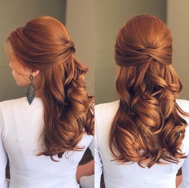 Penteados para madrinhas cabelos longos