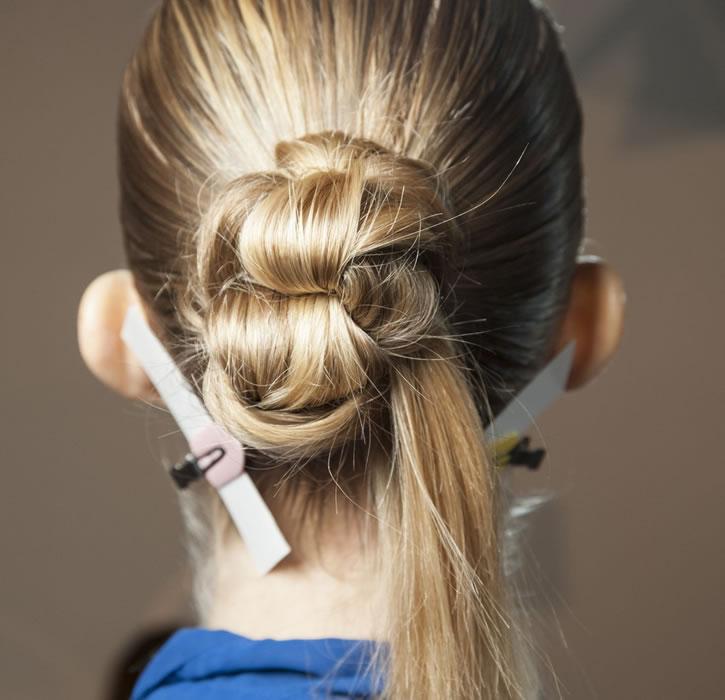penteado coque trocadilho