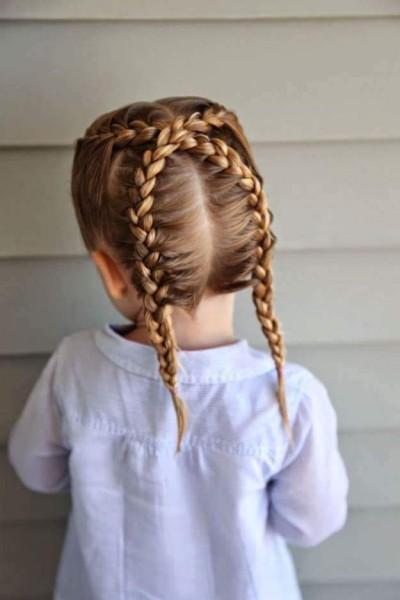 penteados com tranças para crianças