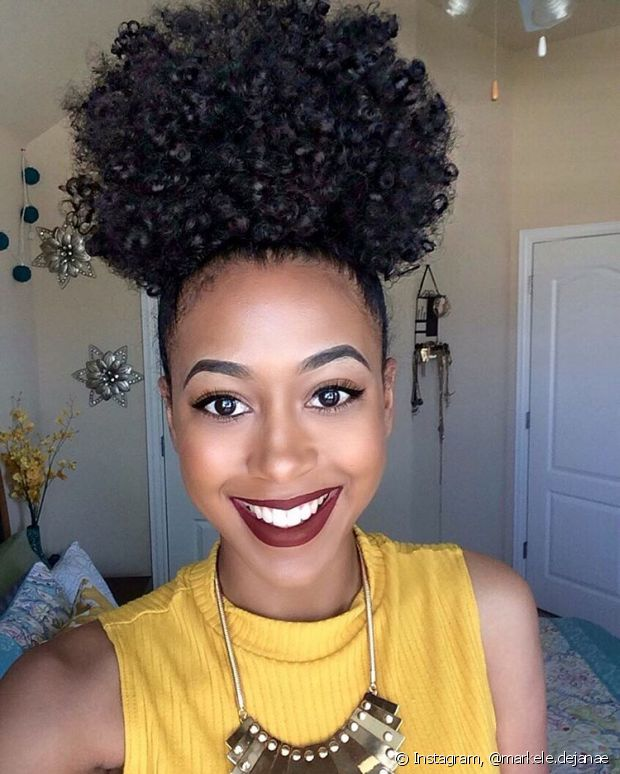 penteados madrinha cabelo afro